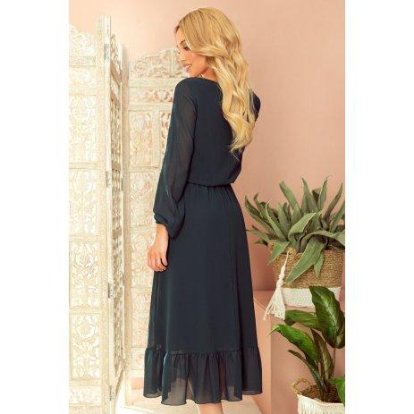 Dámské šaty NUMOCO A304-2 ČERNÁ
