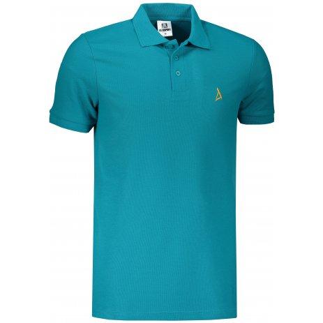 Pánské premium triko s límečkem ALTISPORT ALM002203 TMAVÝ TYRKYS