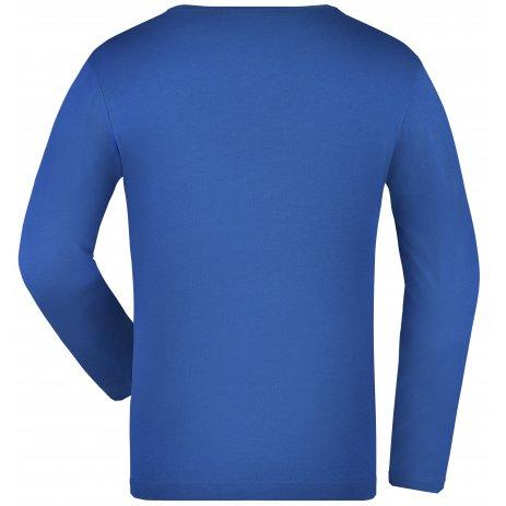 Dětské triko s dlouhým rukávem JAMES NICHOLSON JN913K ROYAL