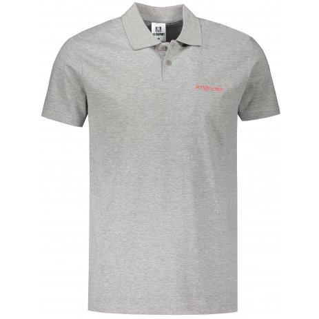 Pánské triko s límečkem ALTISPORT ALM110202 TMAVĚ ŠEDÝ MELÍR