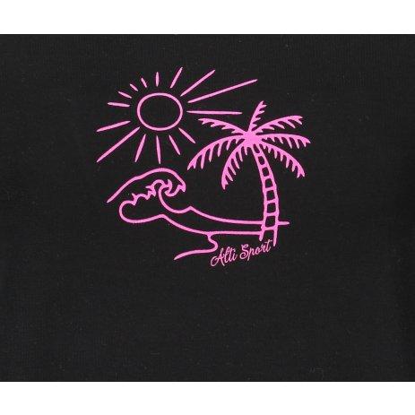 Dámské triko ALTISPORT ALW089120 ČERNORŮŽOVÁ