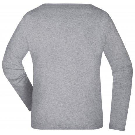 Dámské triko s dlouhým rukávem JAMES NICHOLSON JN903 GREY HEATHER
