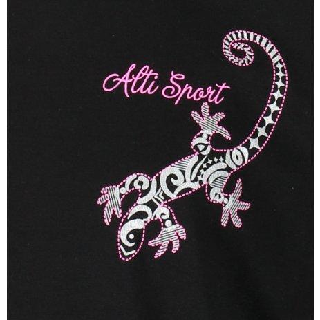 Dětské triko ALTISPORT ALK092138 ČERNÁ