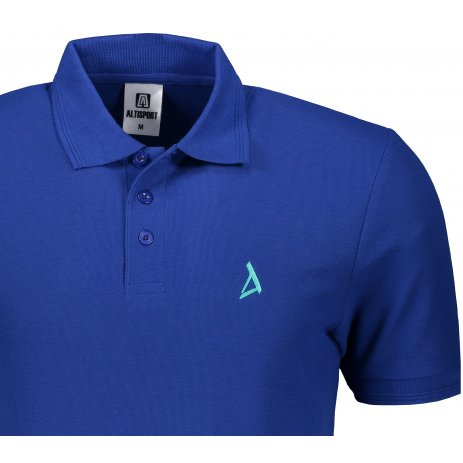 Pánské premium triko s límečkem ALTISPORT ALM002203 KRÁLOVSKÁ MODRÁ