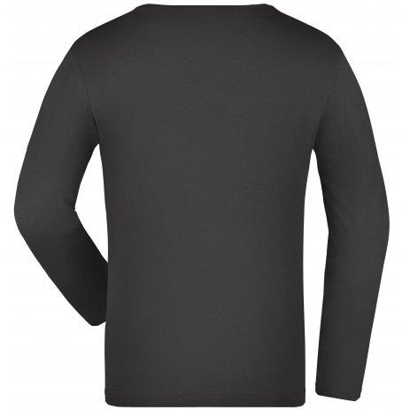 Dětské triko s dlouhým rukávem JAMES NICHOLSON JN913K GRAPHITE