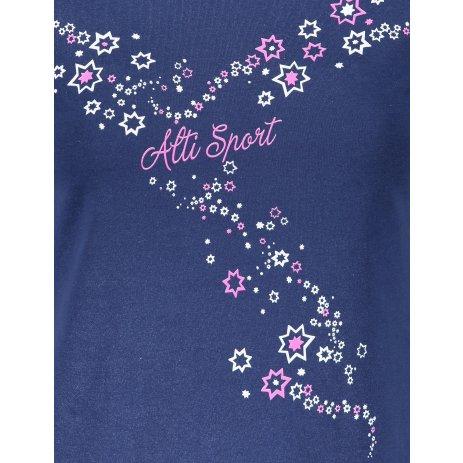 Dámské triko ALTISPORT ALW088122 PŮLNOČNÍ MODRÁ