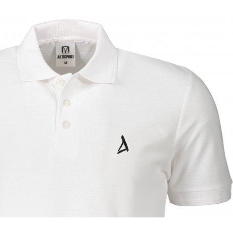 Pánské premium triko s límečkem ALTISPORT ALM002203 BÍLÁ