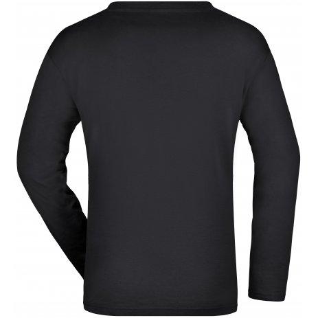 Pánské triko s dlouhým rukávem JAMES NICHOLSON JN913 BLACK