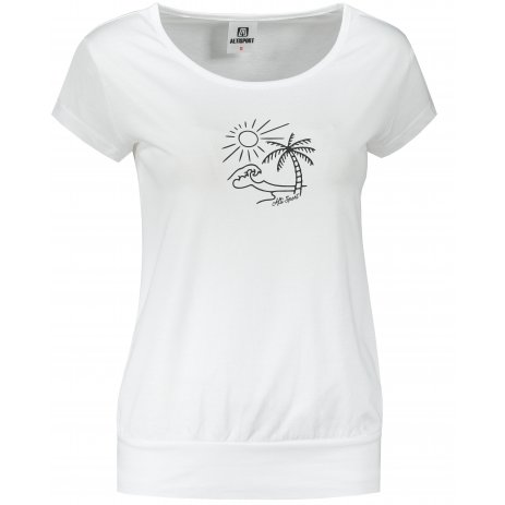 Dámské triko ALTISPORT ALW089120 BÍLÁ