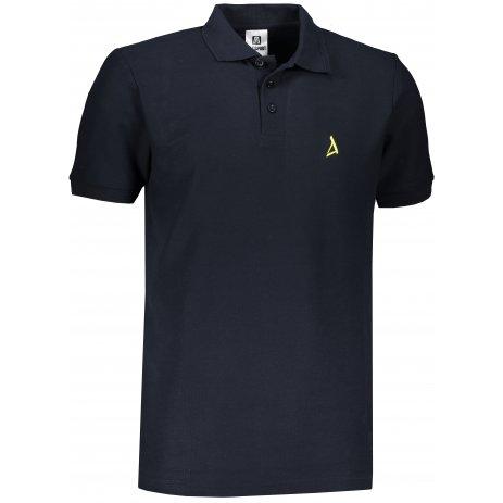 Pánské premium triko s límečkem ALTISPORT ALM002203 NÁMOŘNÍ MODRÁ