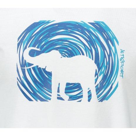 Pánské triko ALTISPORT ALM090129 BÍLÁ