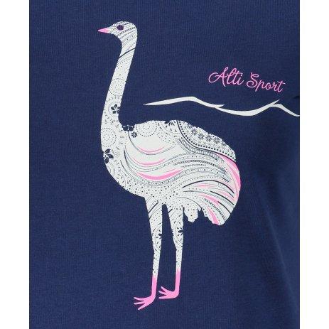 Dámské triko ALTISPORT ALW093122 PŮLNOČNÍ MODRÁ