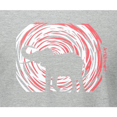 Pánské triko ALTISPORT ALM090129 TMAVĚ ŠEDÝ MELÍR