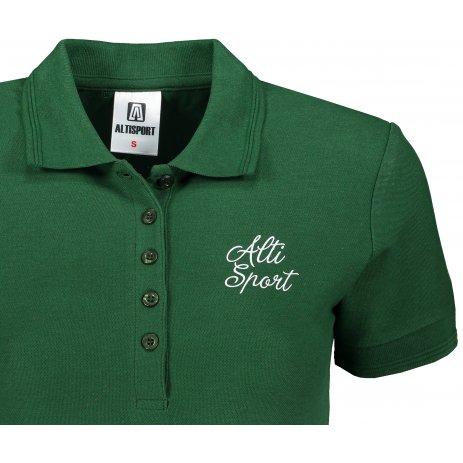 Dámské triko s límečkem ALTISPORT ALW056210 LAHVOVĚ ZELENÁ