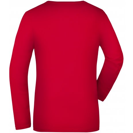 Dámské triko s dlouhým rukávem JAMES NICHOLSON JN929 RED