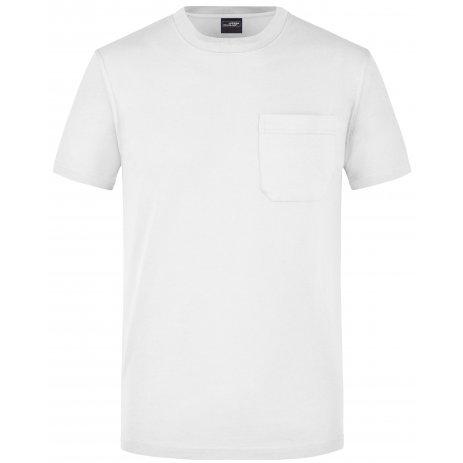 Pánské triko JAMES NICHOLSON JN920 WHITE