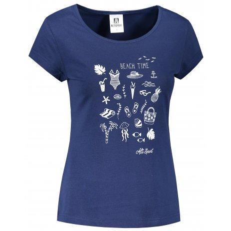 Dámské triko ALTISPORT ALW104122 PŮLNOČNÍ MODRÁ