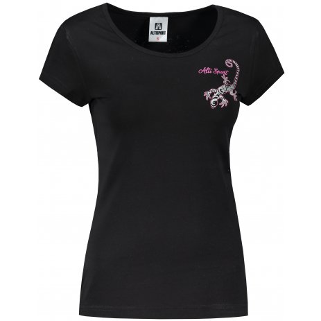 Dámské triko ALTISPORT ALW092122 ČERNORŮŽOVÁ