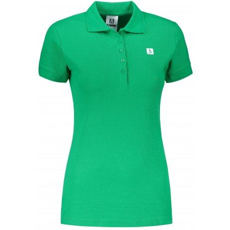 Dámské triko s límečkem ALTISPORT ALW065210 STŘEDNĚ ZELENÁ