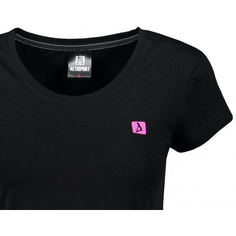 Dámské premium triko ALTISPORT ALW065154 ČERNORŮŽOVÁ