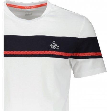 Pánské triko PEAK ROUND NECK T SHIRT FW612133 WHITE