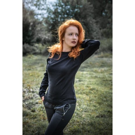 Dámský svetr ALTISPORT MUNPA LPLU101 ČERNÁ