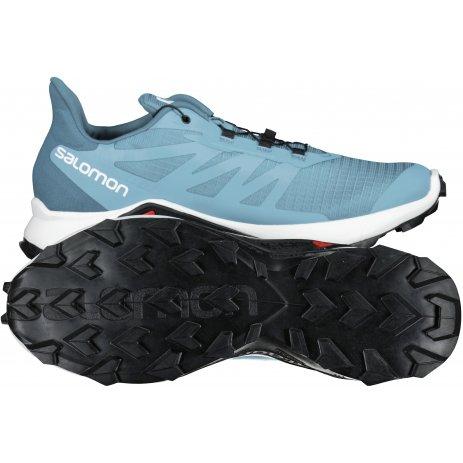 Pánské běžecké boty SALOMON SUPERCROSS 3 GTX L41455800 MODRÁ/BÍLÁ/MODRÁ