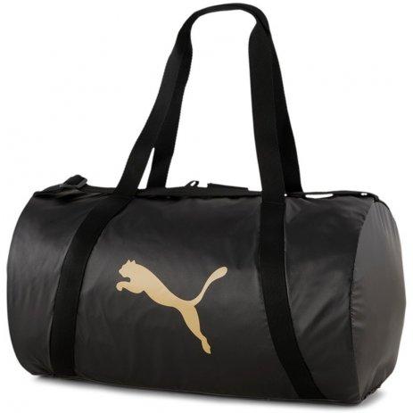Dámská taška PUMA AT ESS BARREL BAG MOTO PACK 078640-01 ČERNÁ
