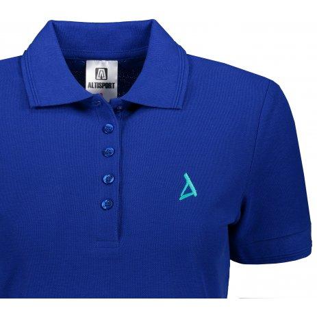 Dámské premium triko s límečkem ALTISPORT ALW002210 KRÁLOVSKÁ MODRÁ
