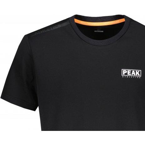Pánské triko PEAK ROUND NECK T SHIRT FW612063 BLACK