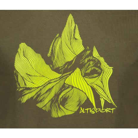 Pánské triko ALTISPORT ALM123129 MILITARY