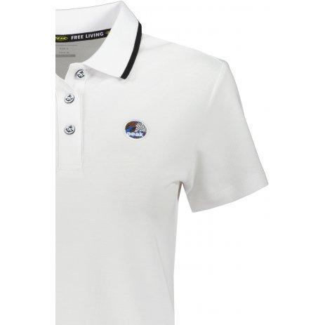 Dámské triko s límečkem PEAK POLO T SHIRT FW612158 WHITE