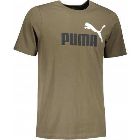 Pánské triko PUMA ESS 2 COL LOGO TEE 586759-44 ZELENÁ