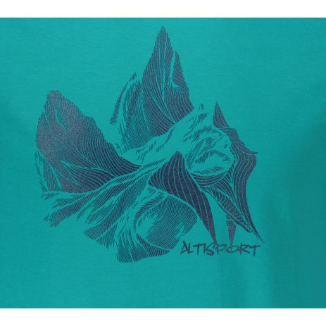 Pánské triko ALTISPORT ALM123129 EMERALD
