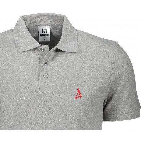 Pánské premium triko s límečkem ALTISPORT ALM002203 TMAVĚ ŠEDÝ MELÍR