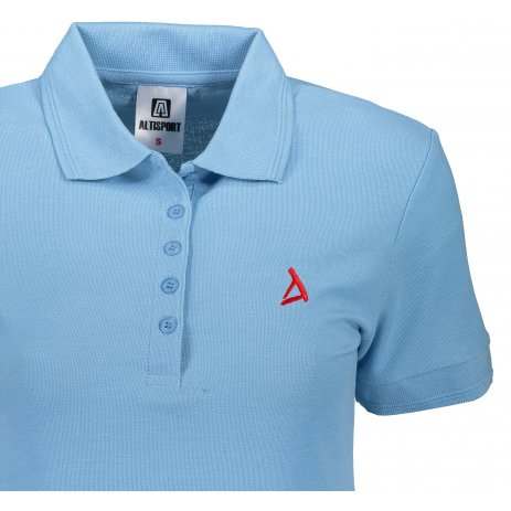 Dámské premium triko s límečkem ALTISPORT ALW002210 NEBESKY MODRÁ