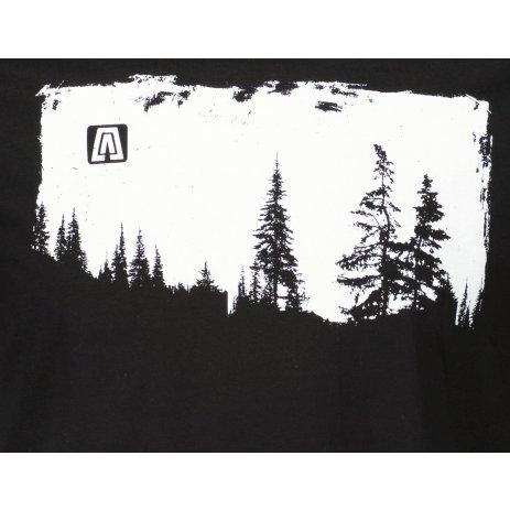 Pánské triko ALTISPORT ALM111129 ČERNOBÍLÁ