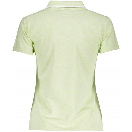 Dámské triko s límečkem PEAK POLO T SHIRT FW612158 GREEN MELANGE GREY