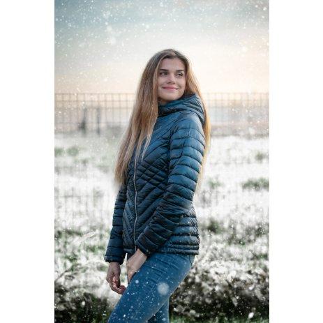Dámská zimní bunda ALTISPORT STUPA LJCU496 TYRKYSOVÁ