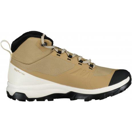 Pánské zimní boty SALOMON OUTSNAP CSWP L41441100 HNĚDÁ/BÍLÁ/ČERNÁ