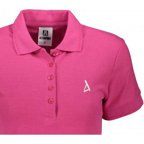Dámské premium triko s límečkem ALTISPORT ALW002210 PURPUROVÁ
