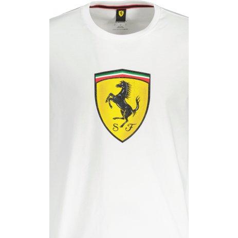 Pánské triko PUMA FERRARI RACE COLORED BIG SHIELD TEE 531691-07 BÍLÁ