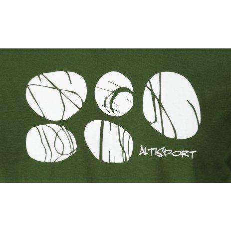 Pánské triko ALTISPORT ALM122129 LAHVOVĚ ZELENÁ