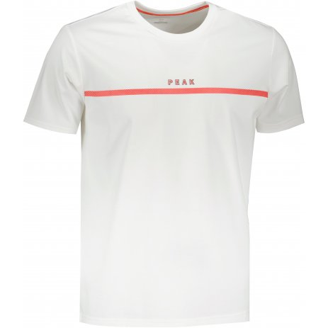 Pánské triko PEAK ROUND NECK T SHIRT FW612093 WHITE