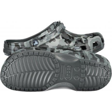Pánské pantofle CROCS CLASSIC PRINTED CAMO CLOG 206454-0IE SLATE GREY/MULTI