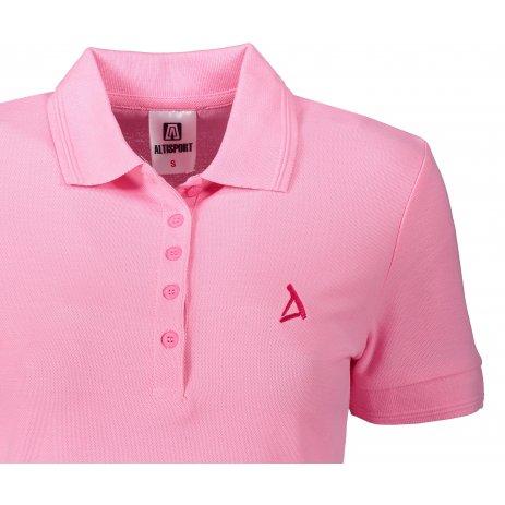 Dámské premium triko s límečkem ALTISPORT ALW002210 SVĚTLE RŮŽOVÁ