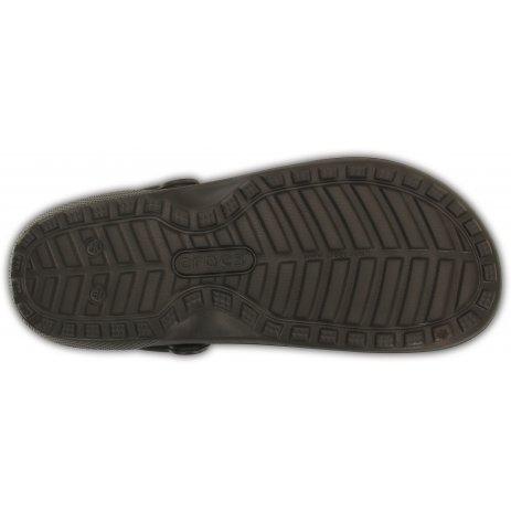 Dámské pantofle CROCS CLASSIC FUZZ LINED CLOG 203591-23B ESPRESSO/WALNUT
