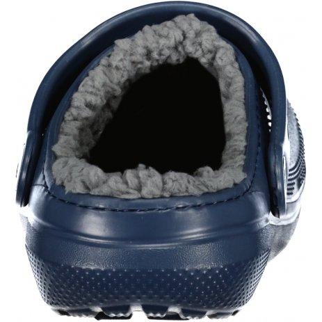 Dětské pantofle CROCS CLASSIC LINED CLOG K 203506-459 NAVY/CHARCOAL
