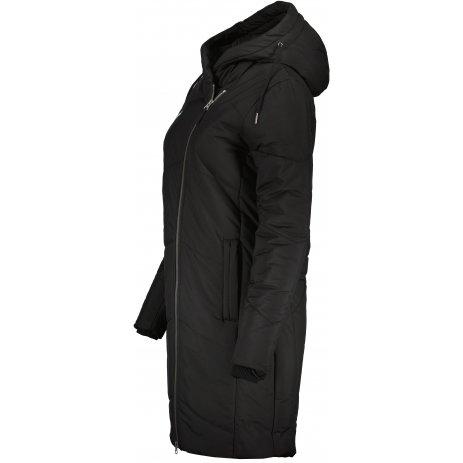 Dámský zimní kabát ALTISPORT HUBIAMA LCTU168 ČERNÁ