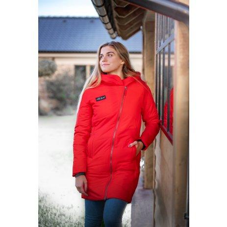 Dámský zimní kabát ALTISPORT HUBIAMA LCTU168 ČERVENÁ